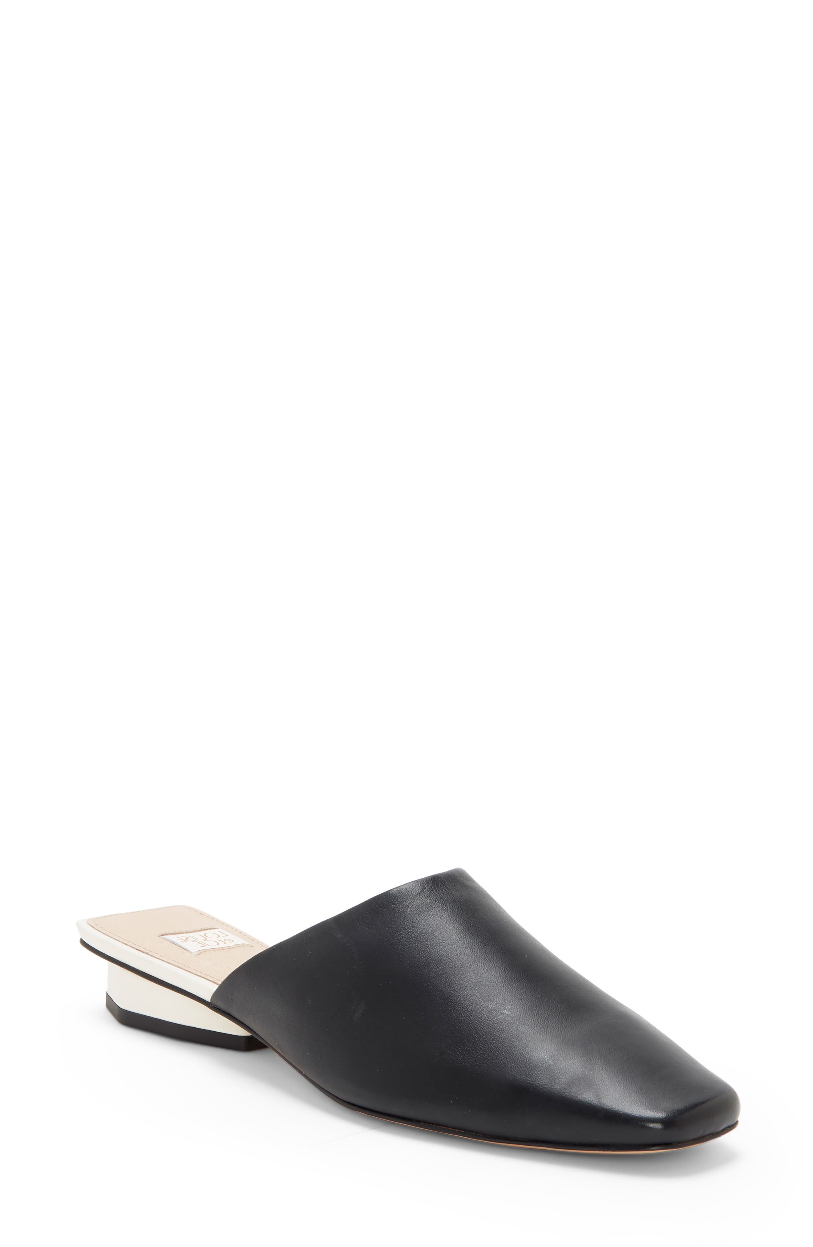 A classic with modern touches, this throw-on-and-go mule is styled with a subtle squared toe and a low octagonal heel. Style Name: Louise Et Cie Coolia Mule (Women). Style Number: 6027124. Available in stores.