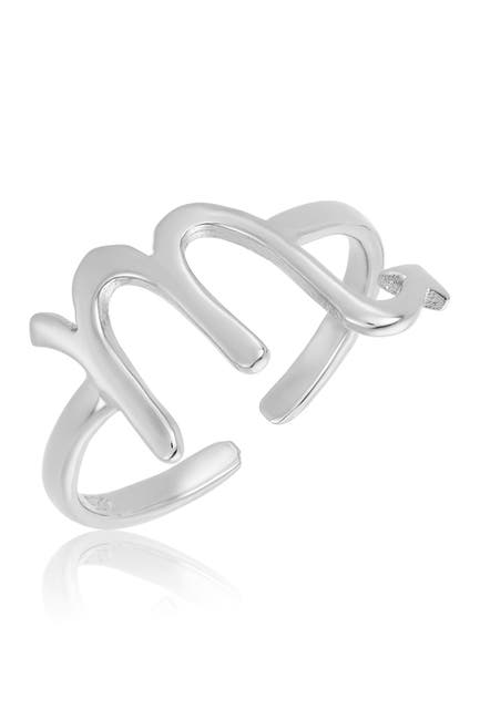 Image of Sterling Forever Sterling Silver Adjustable Zodiac Ring - Scorpio