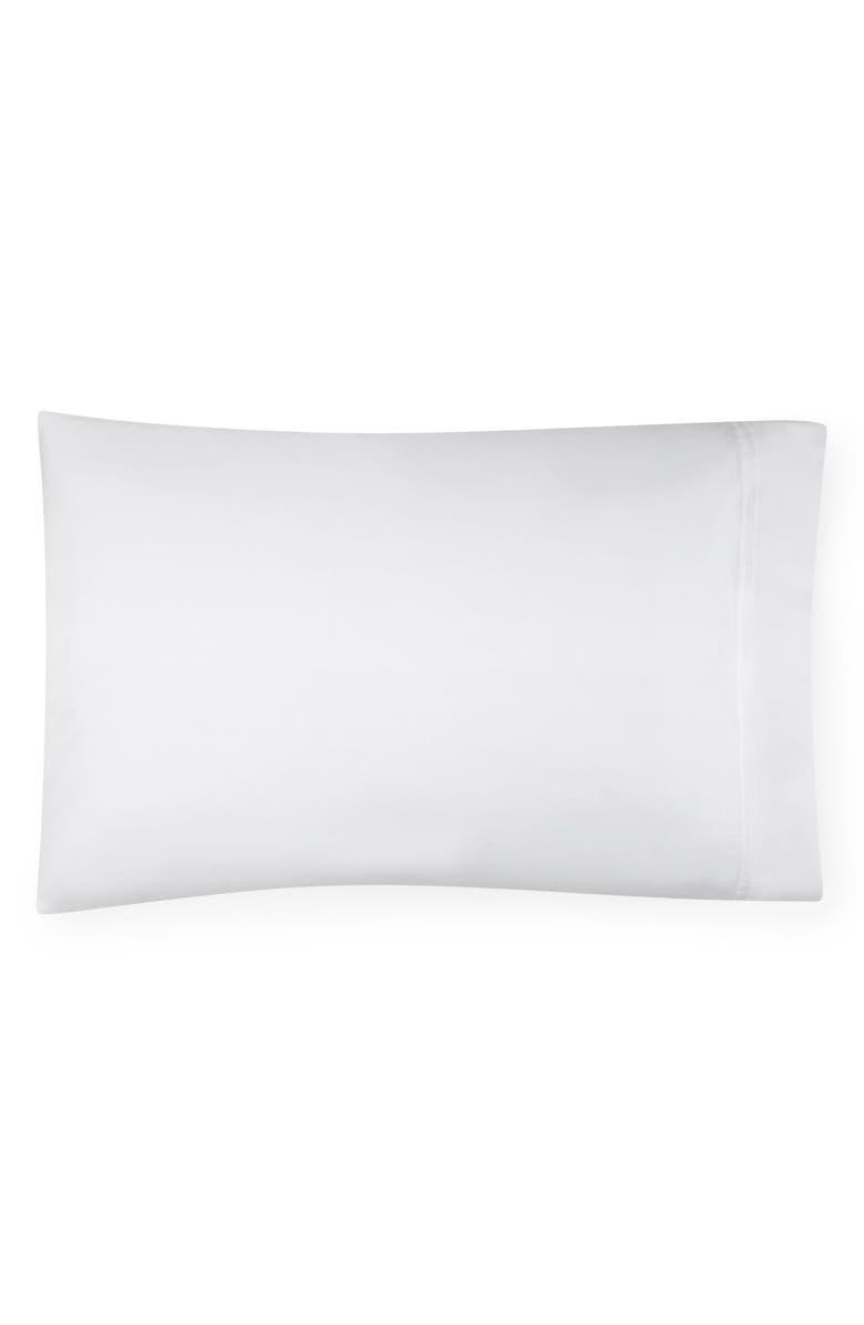 SFERRA Grande Hotel Pillowcase, Main, color, WHITE/ WHITE