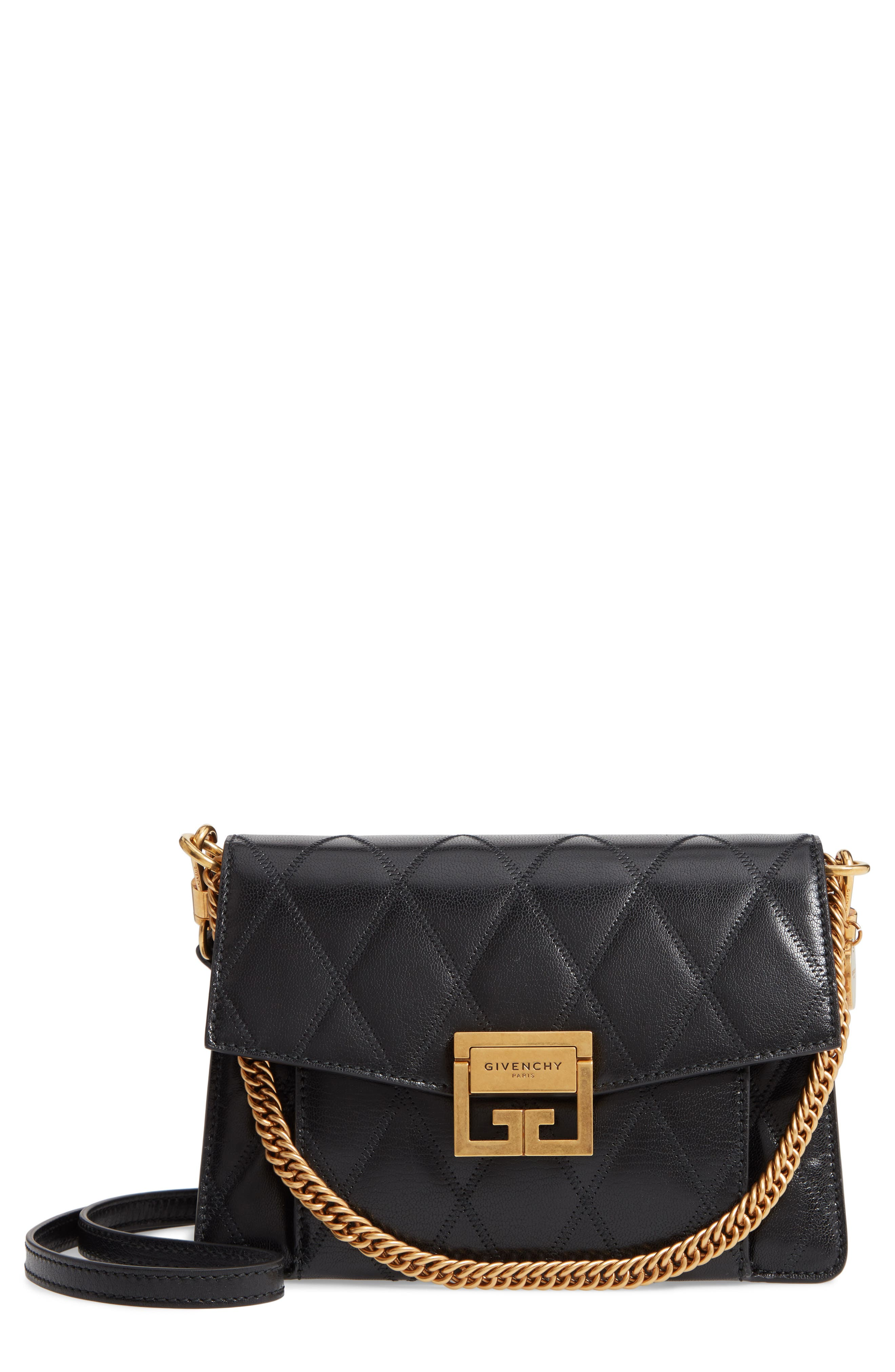 Givenchy Small GV3 Diamond Quilted Leather Crossbody Bag   Nordstrom