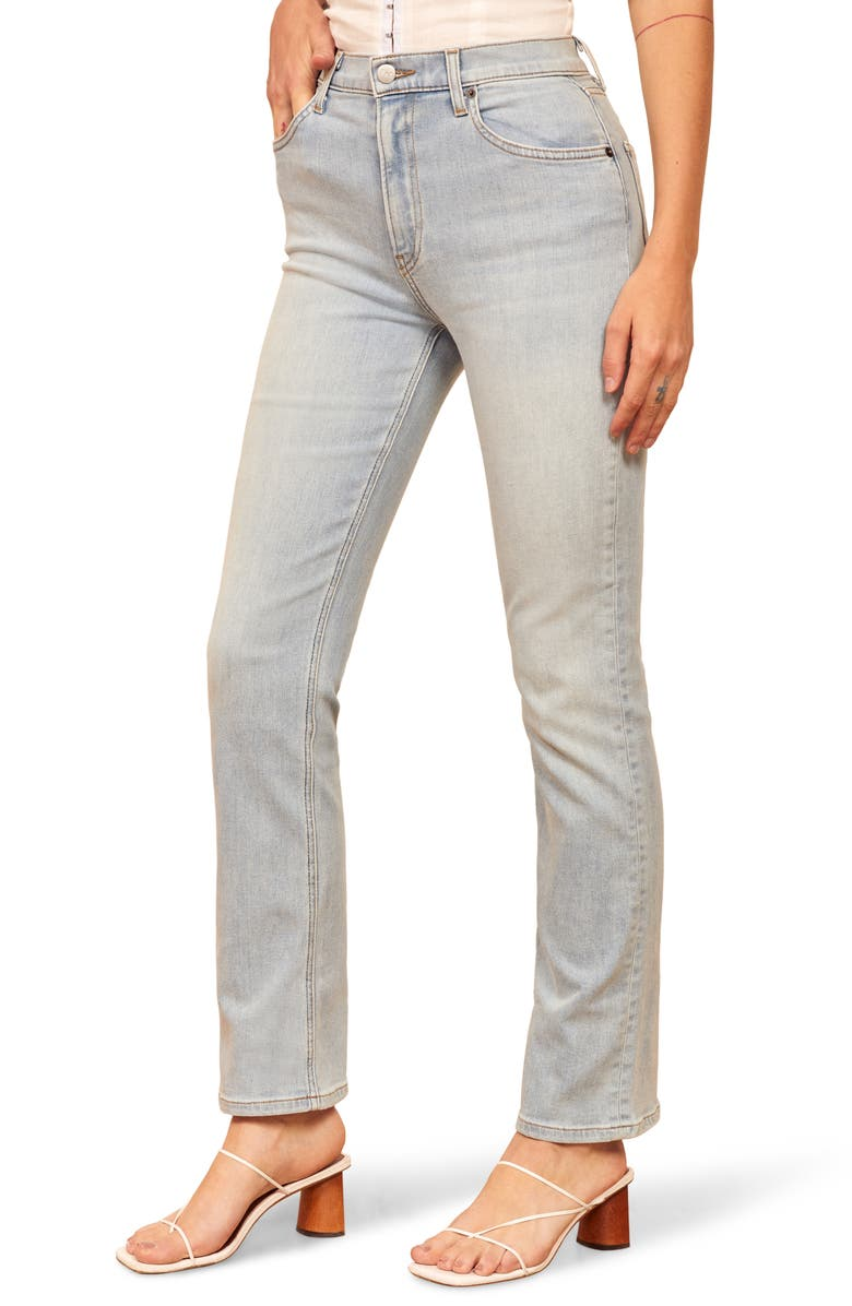 Reformation Roxy Straight Leg Jeans St Lucia Destroyed