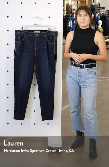 Modern Ab-Solution High Waist Sparkle Side Stripe Ankle Skinny Jeans, sales video thumbnail