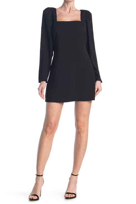 Image of re:named apparel Allie Puff Sleeve Mini Dress