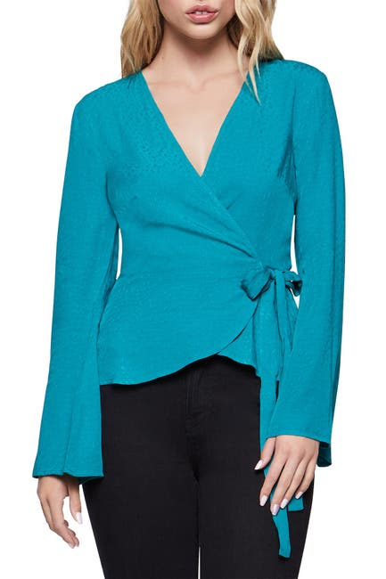 Image of BCBGeneration Bell Sleeve Wrap Top