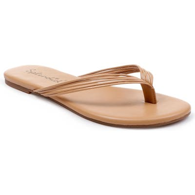 Splendid Shyanna Strappy Flip Flop, Beige