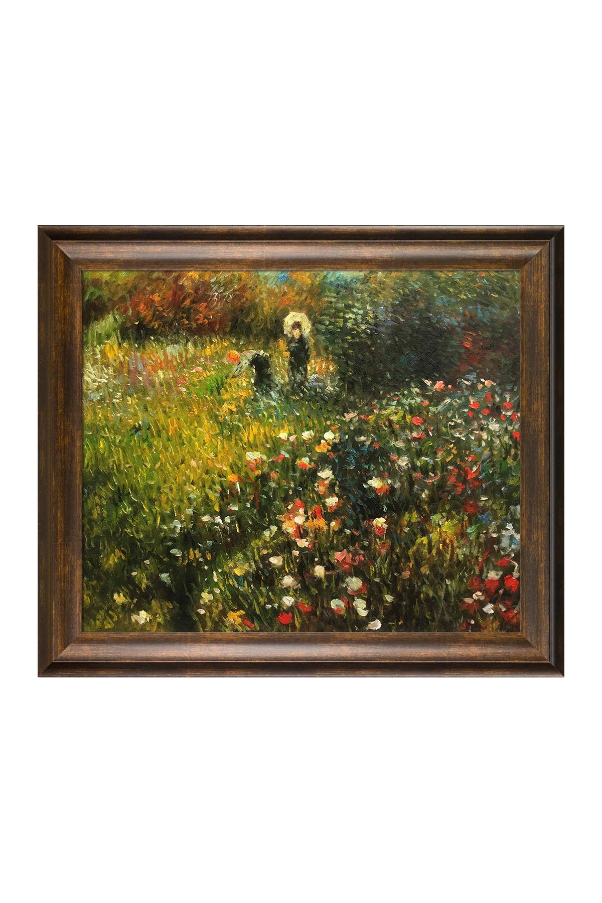 Image of Overstock Art Woman with a Parasol in a Garden (Frau mi Sonnenschirm) Framed Oil ReproductionWall Art by Pierre-Auguste Renoir