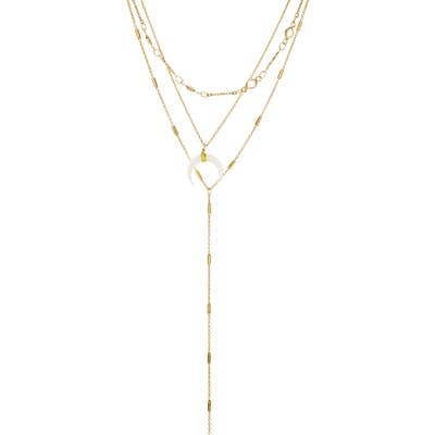 Panacea White Horn Layered Y-Necklace