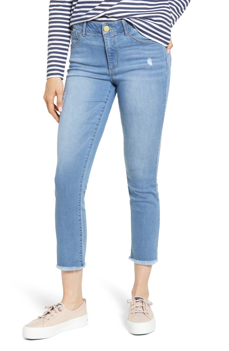 Wit Wisdom Ab Solution High Waist Ankle Skinny Jeans Regular Petite Exclusive