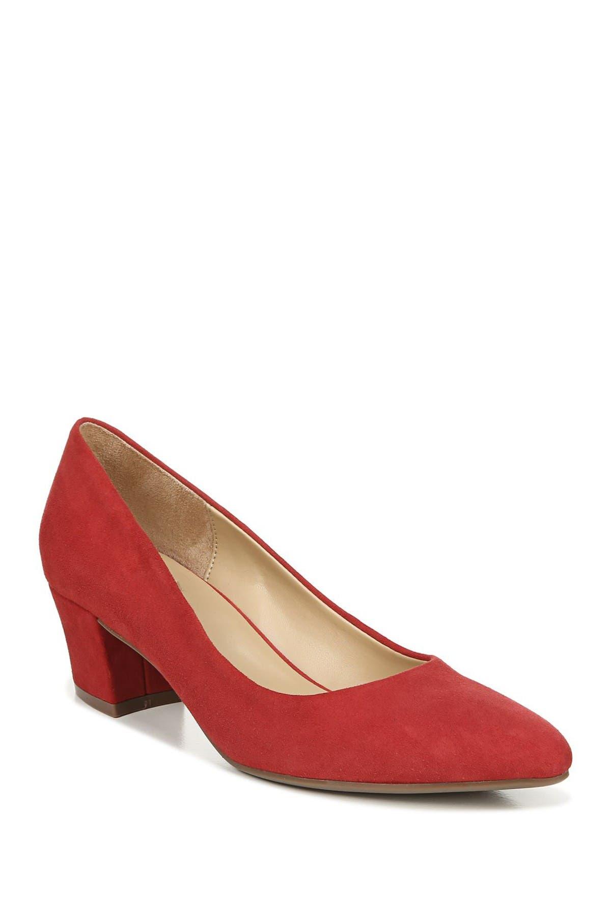 Image of Naturalizer Carmen Suede Block Heel Pump - Wide Width Available