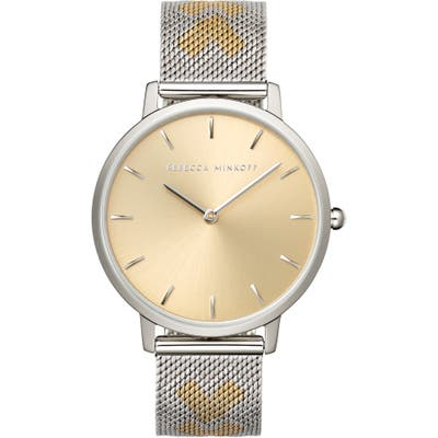Rebecca Minkoff Major Mesh Hearts Strap Watch, 35Mm