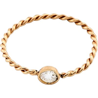 Loren Stewart Diamond Gold Rope Ring