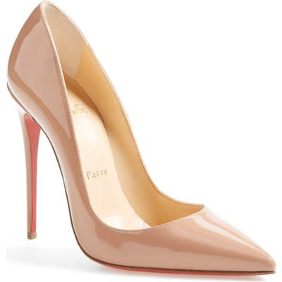 Christian Louboutin So Kate Pointy Toe Pump - Beige