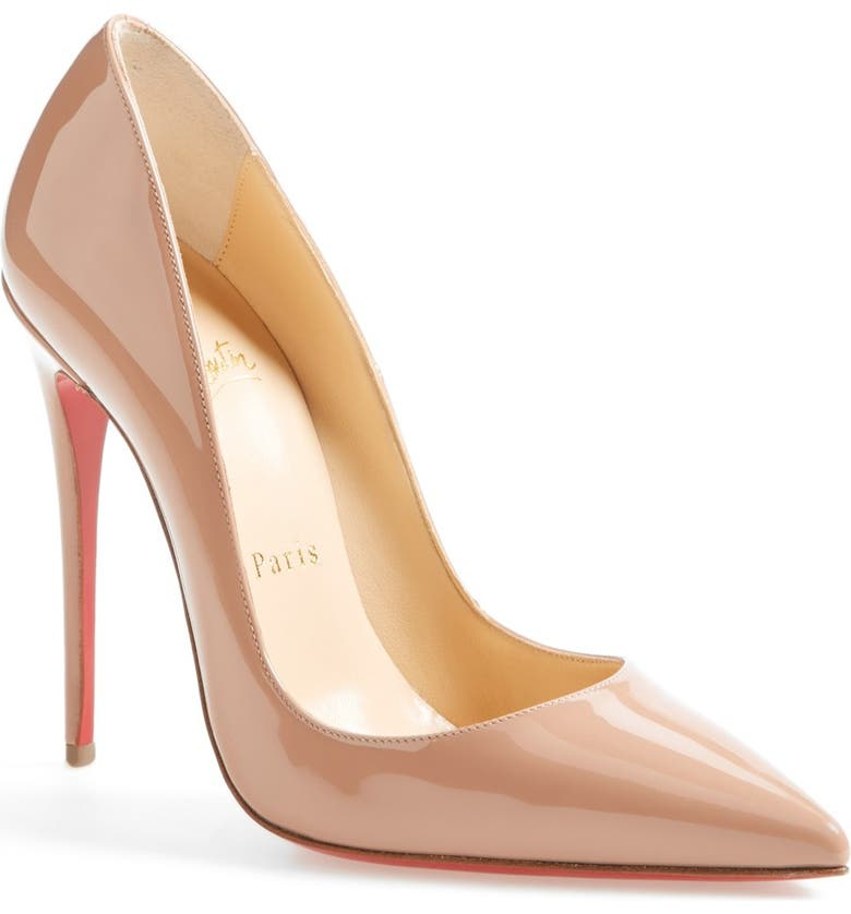 CHRISTIAN LOUBOUTIN So Kate Pointed Toe Pump, Main, color, NUDE