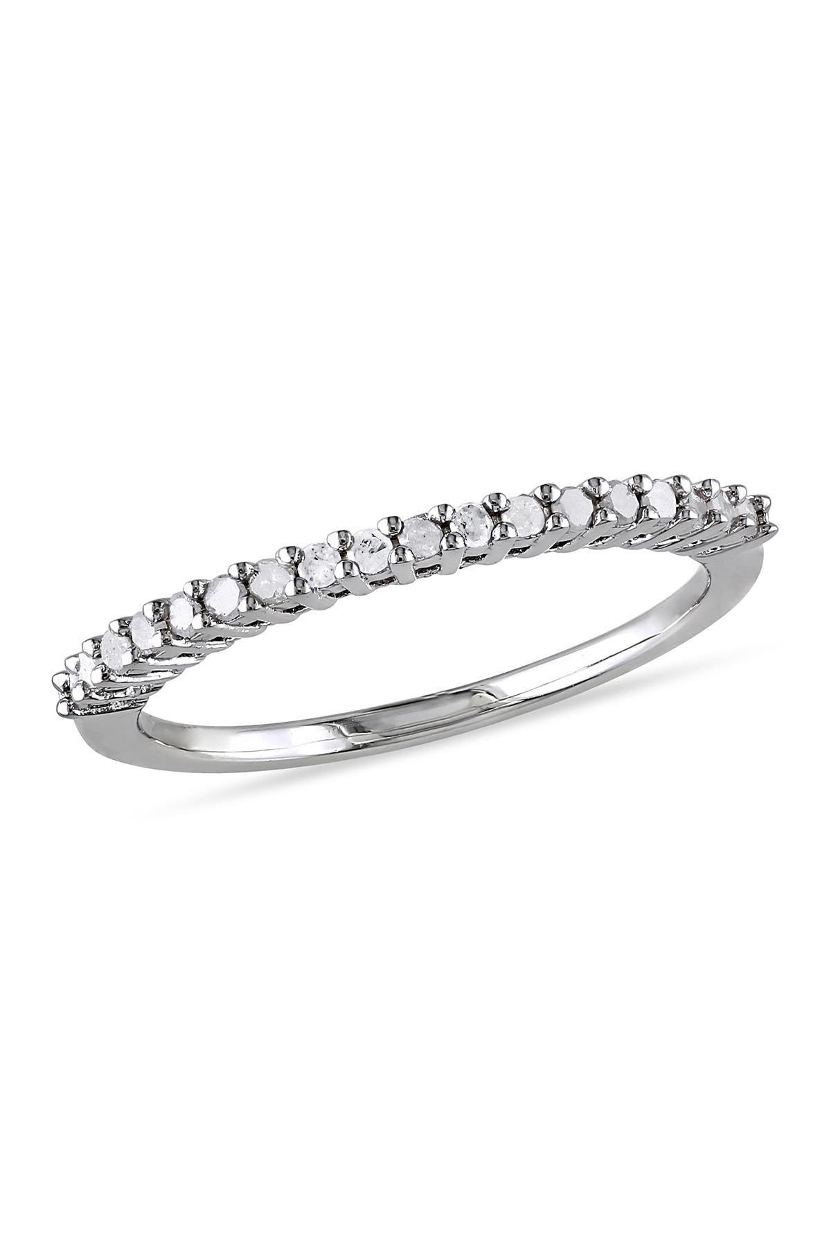 Image of Delmar Sterling Silver Diamond Anniversary Ring - 0.20 ctw