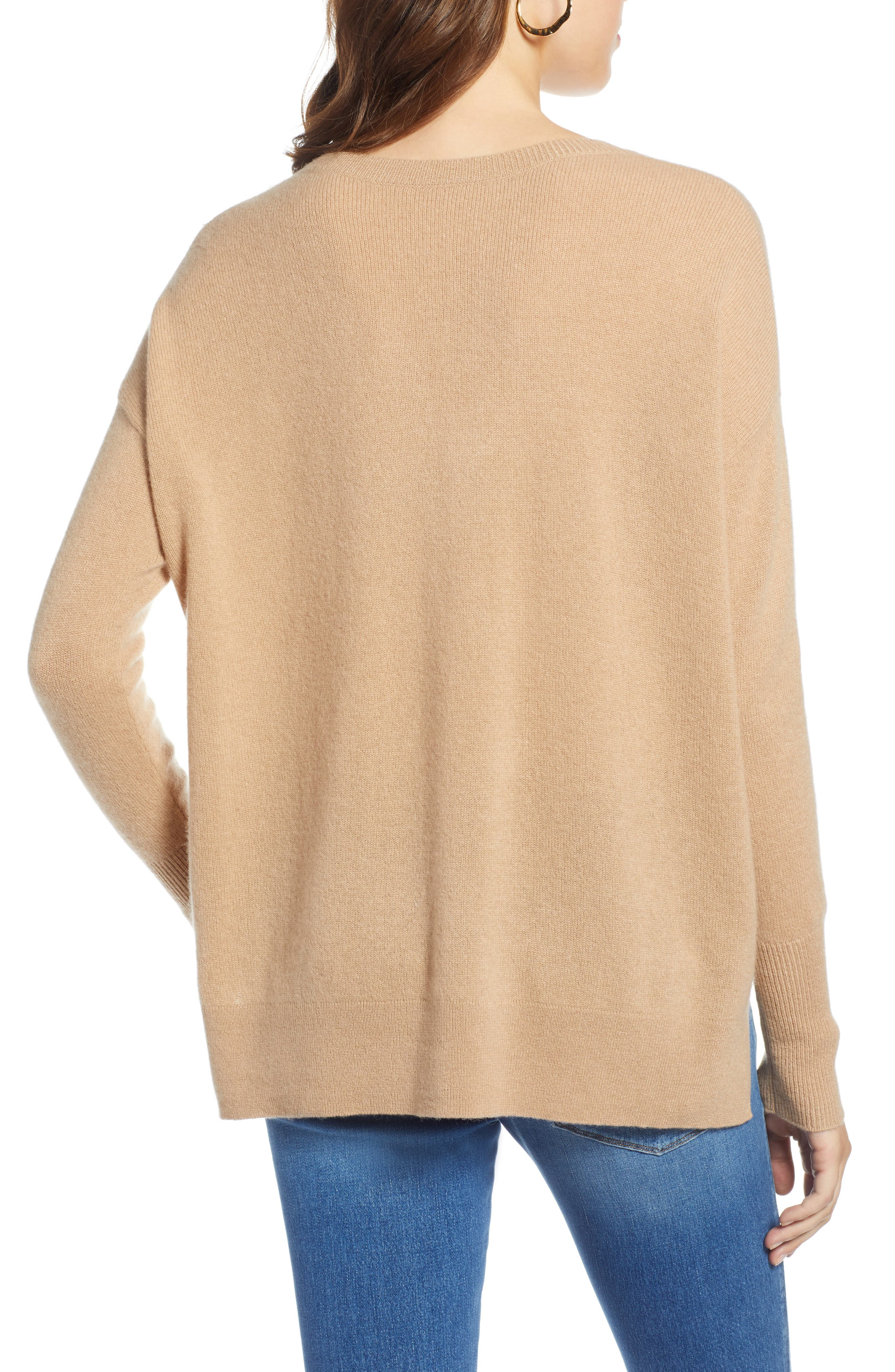 ,                             Relaxed V-Neck Cashmere Sweater,                             Alternate thumbnail 37, color,                             230