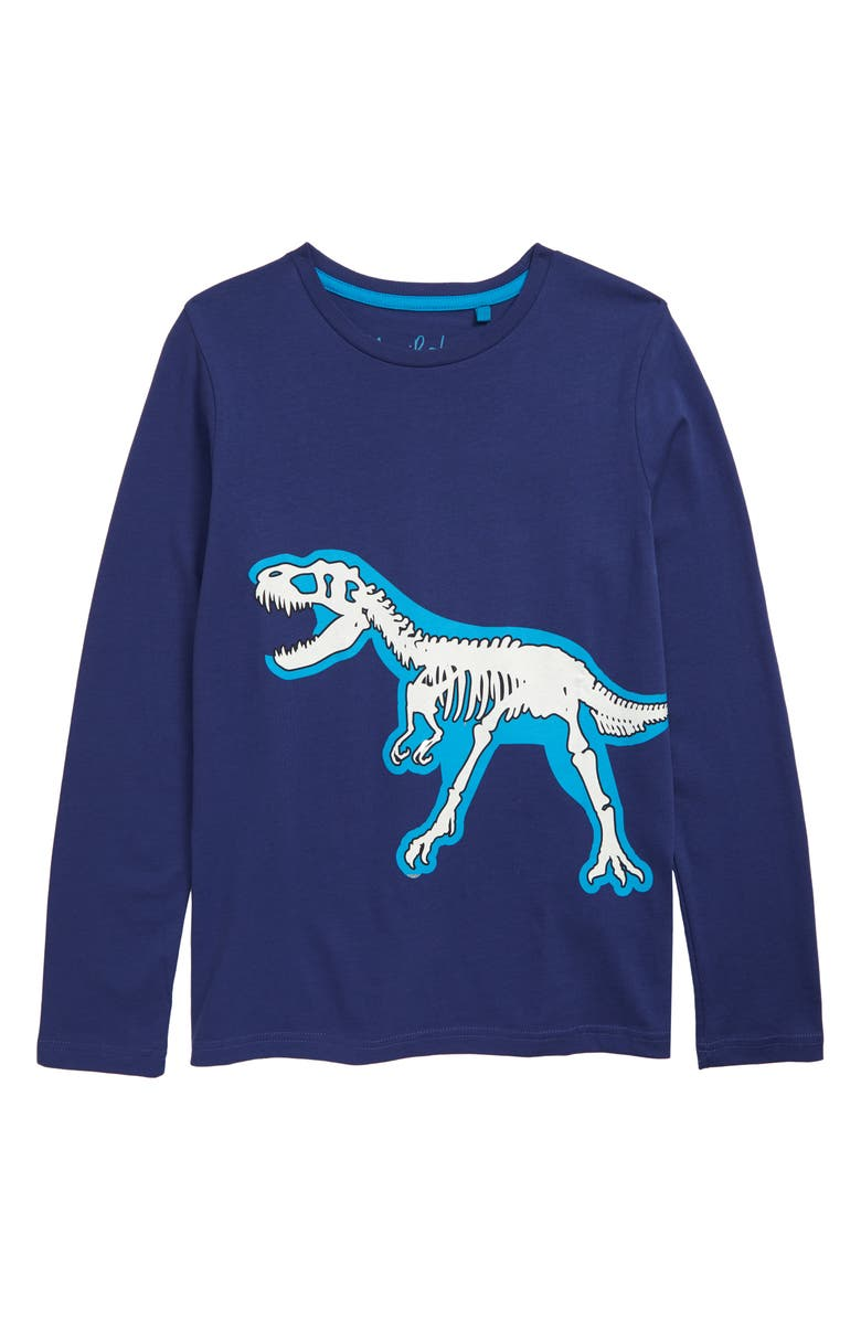 MINI BODEN Glow in the Dark Graphic T-Shirt, Main, color, STARBOARD BLUE