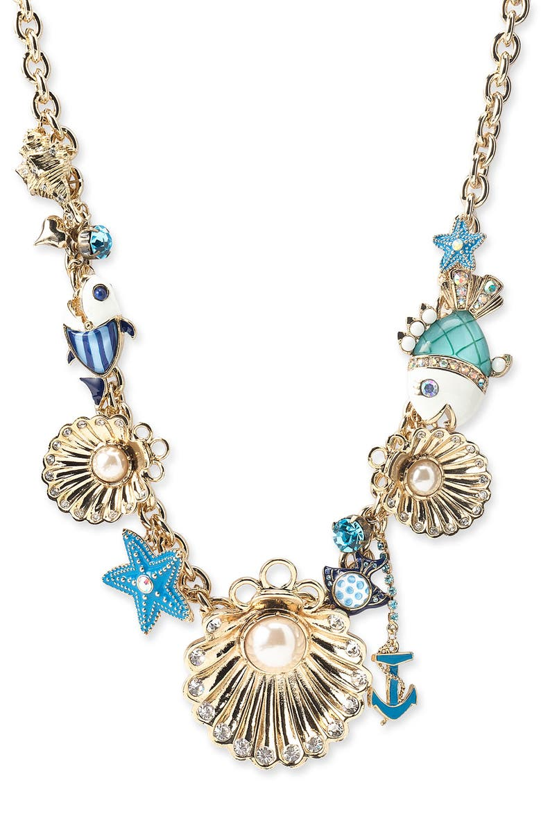BETSEY JOHNSON 'Under the Sea' Necklace, Main, color, 710