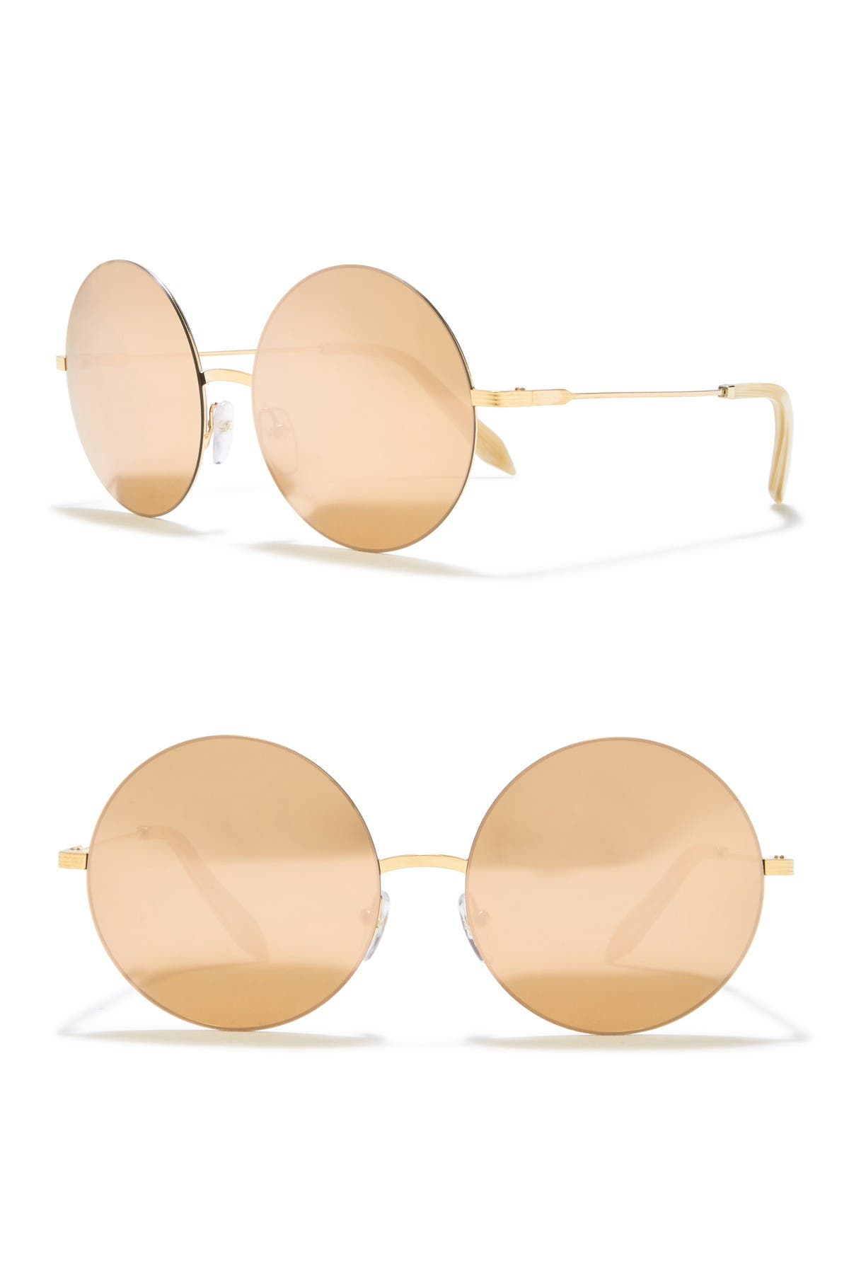 Image of Victoria Beckham 58mm Round Sunglasses