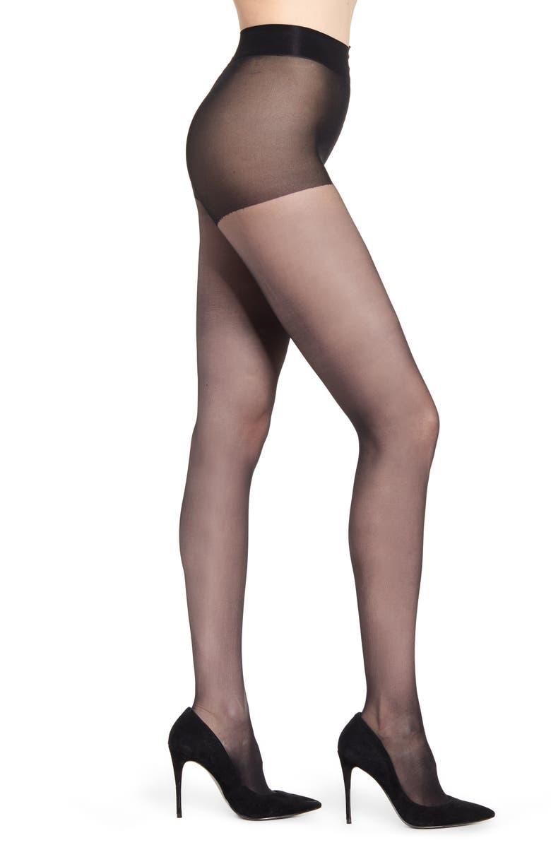 NATORI 2-Pack Control Top Pantyhose, Main, color, BLACK