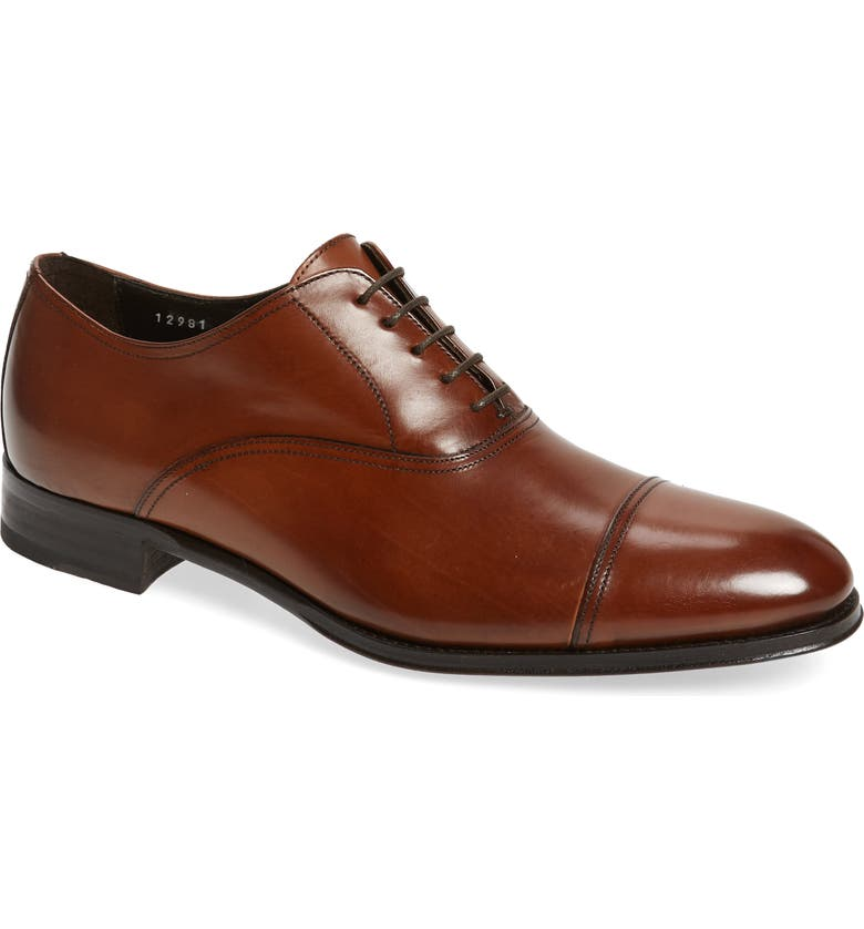 TO BOOT NEW YORK Brandon Cap Toe Oxford, Main, color, COGNAC LEATHER