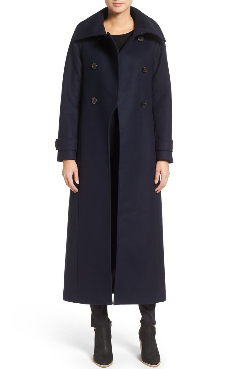 MACKAGE Double Breasted Military Maxi Coat, Main, color, 467
