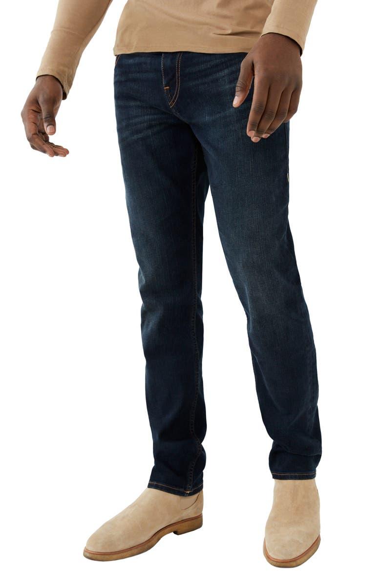 TRUE RELIGION Geno Flap Pocket Slim Leg Jeans, Main, color, HHGD - DALSTON BAY DARK