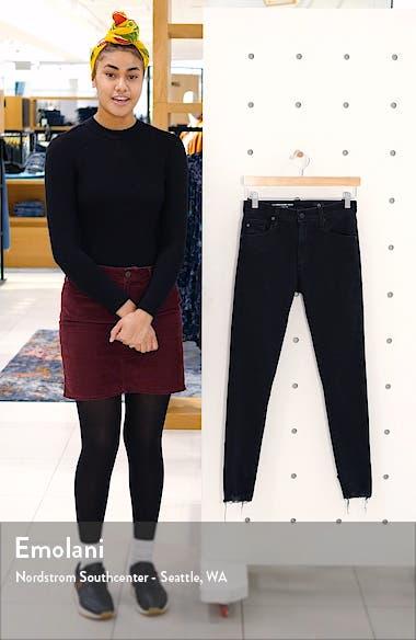 Farrah High Waist Raw Hem Skinny Jeans, sales video thumbnail