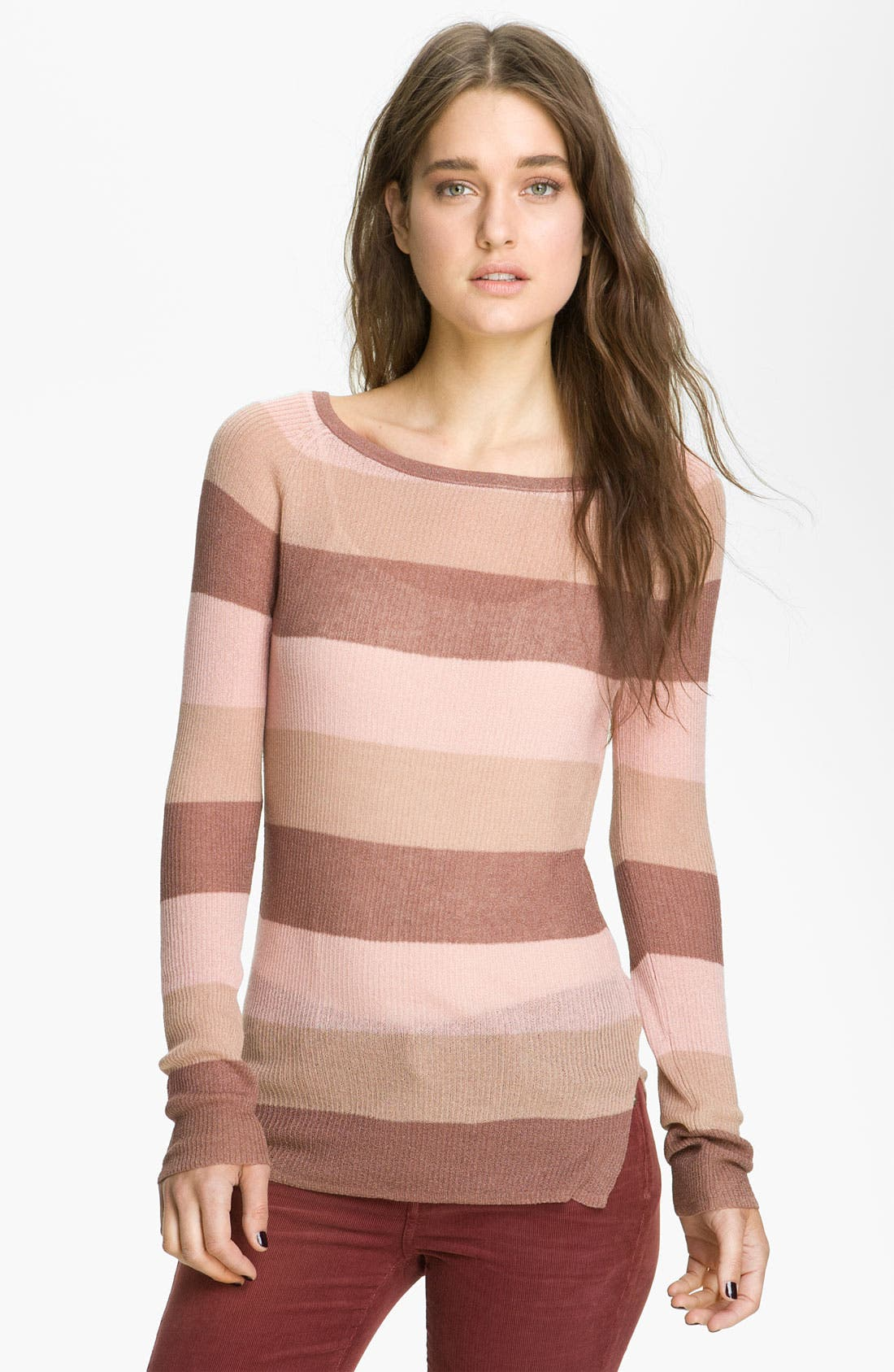 ,                             <sup>®</sup> Stripe Knit Sweater,                             Main thumbnail 4, color,                             690