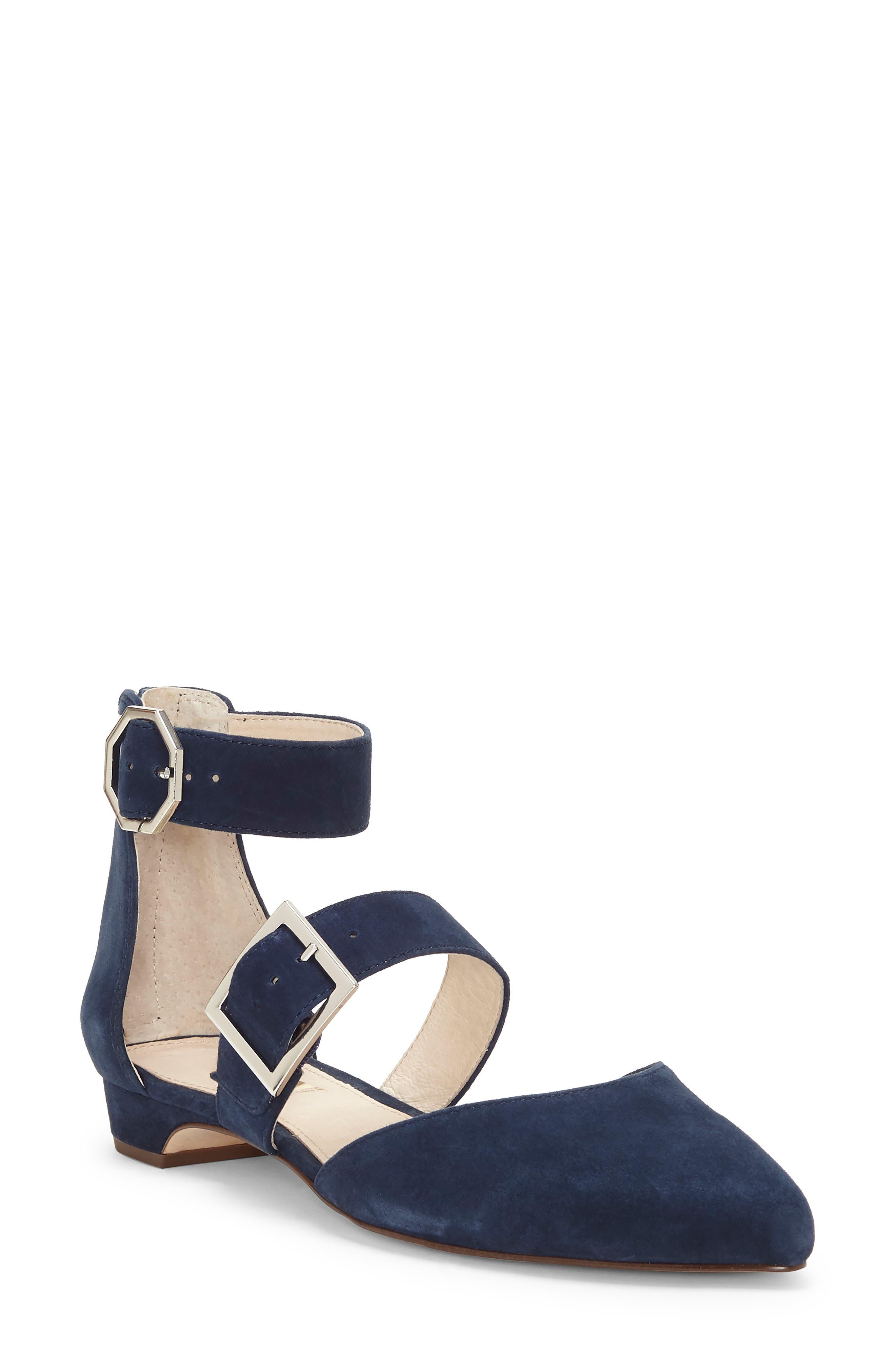 Louise Et Cie Corriett Ankle Strap Sandal- Blue