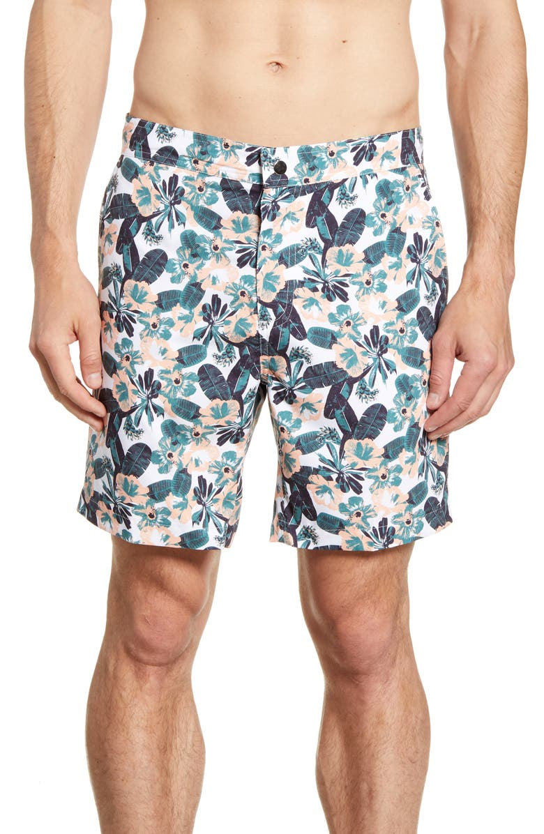 DEVEREUX Bond Hybrid Shorts, Main, color, SOUTH BEACH PRINT