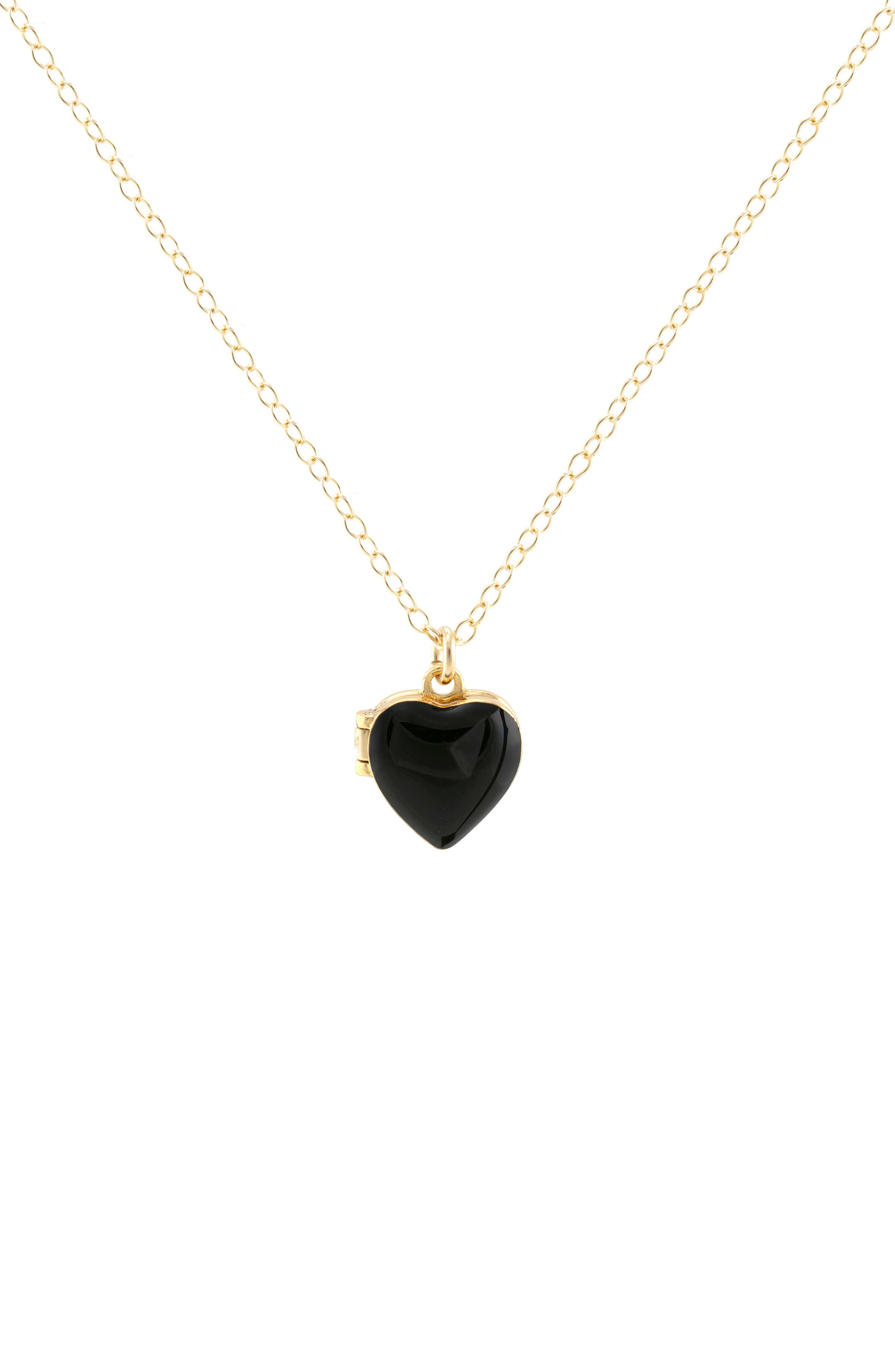 Enamel Heart Locket Necklace
