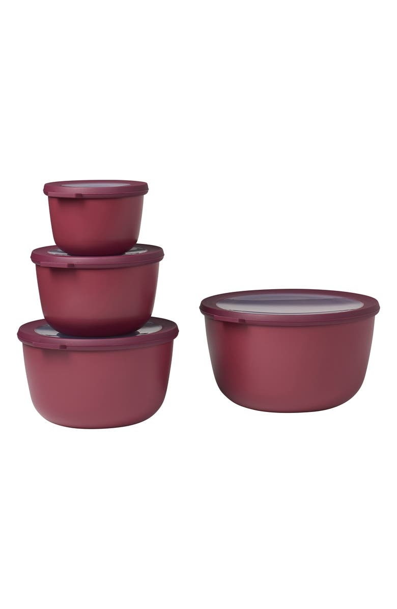 ROSTI MEPAL Cirqula Set of 4 Storage Bowls, Main, color, NORDIC BERRY