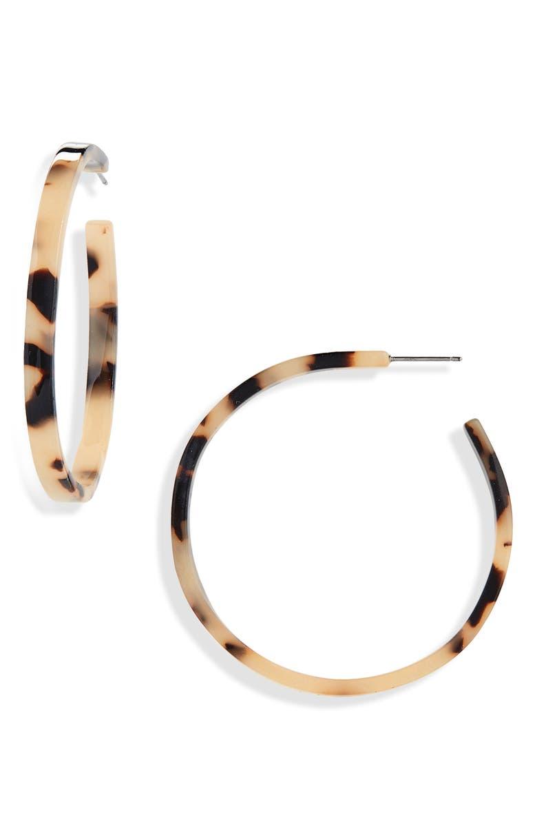 BP. Resin Hoop Earrings, Main, color, 210