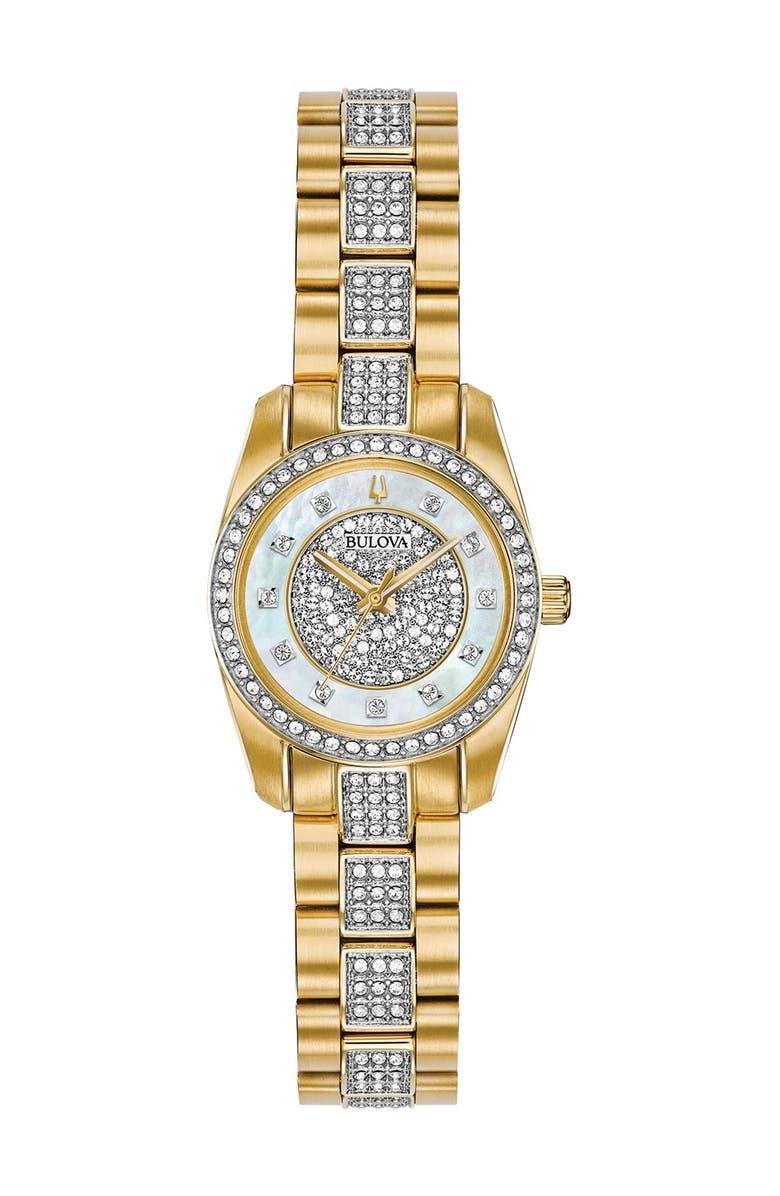 Women's Analog Quartz Swarovski Crystal Bracelet Watch, 23.5mm |  Nordstromrack