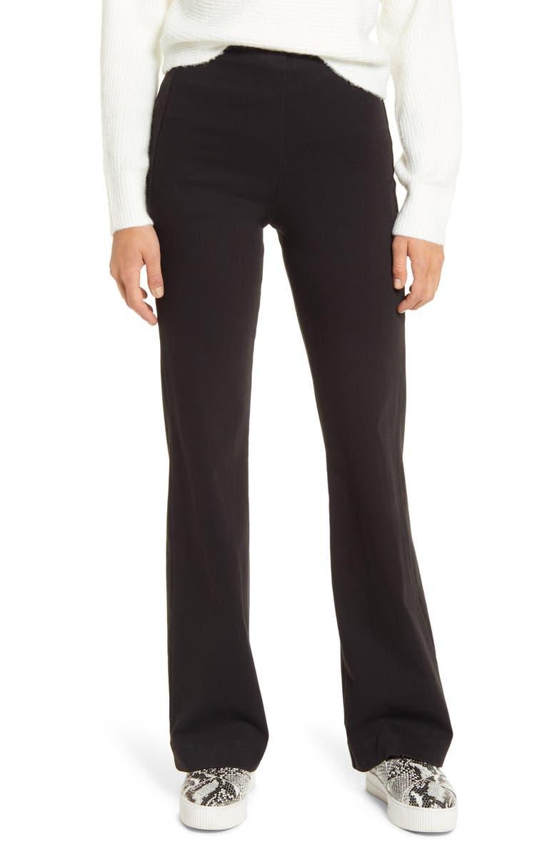 LYSSÉ Wide Leg Denim Trousers, Main, color, BLACK