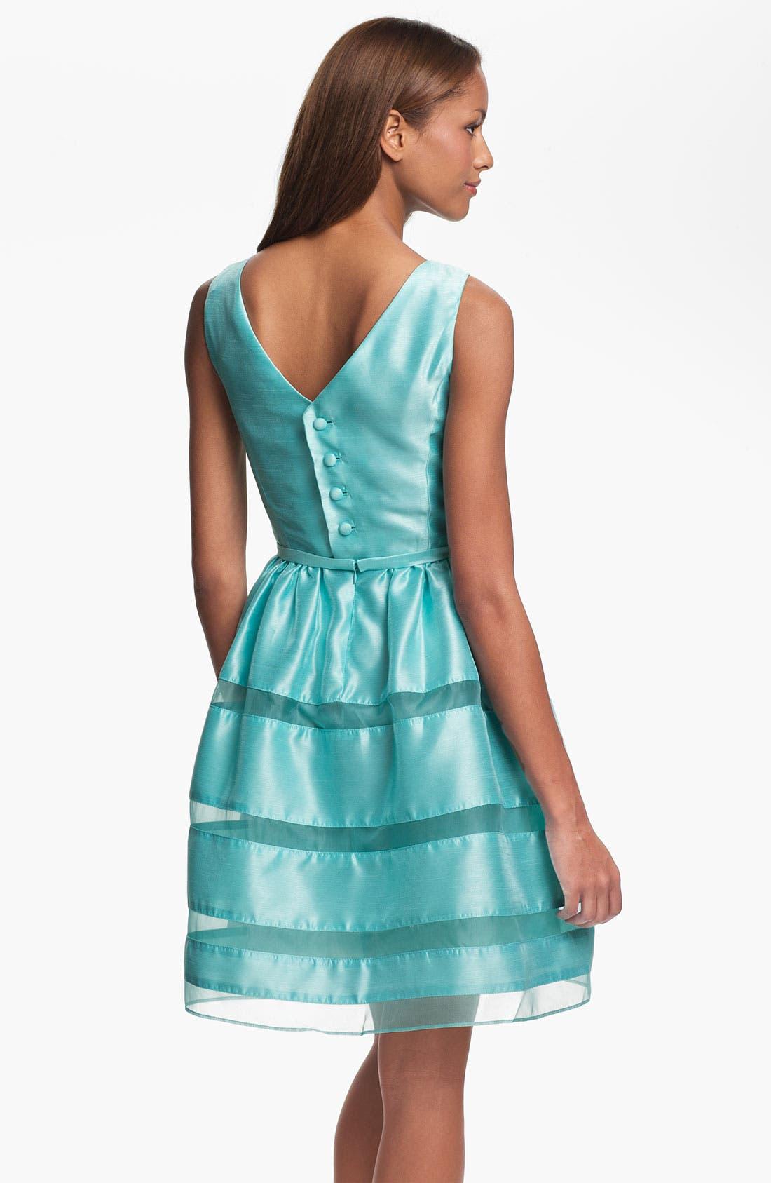,                             Tonal Stripe Fit & Flare Dress,                             Alternate thumbnail 10, color,                             324