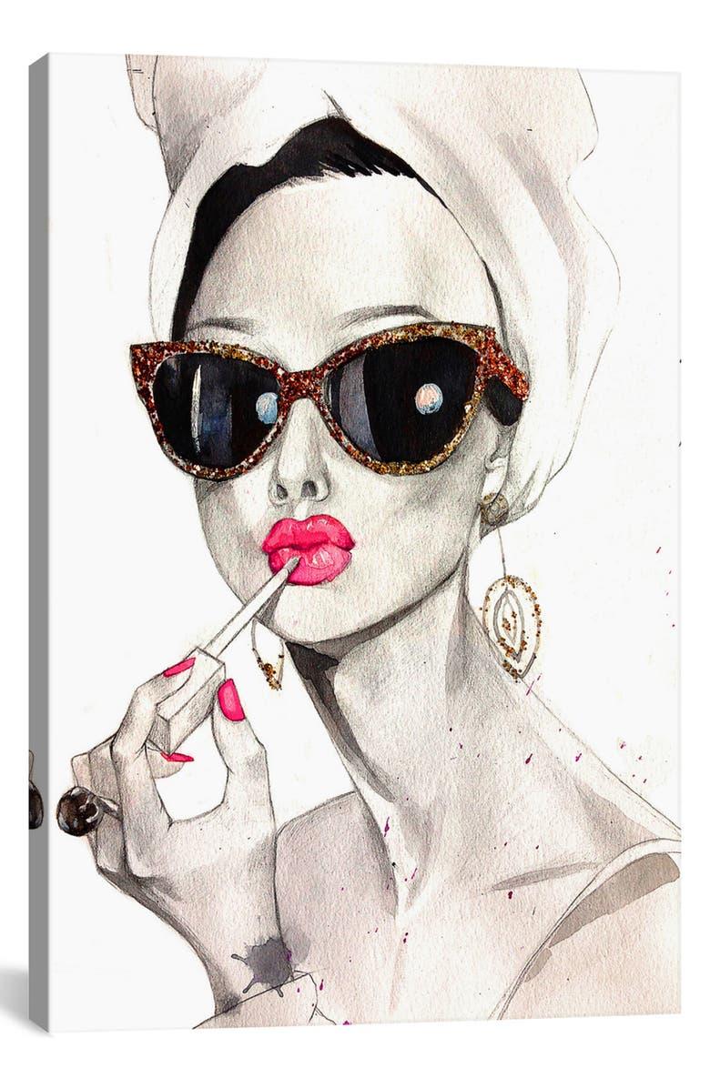 ICANVAS Audrey Hepburn by Rongrong DeVoe Giclée Print Canvas Art, Main, color, 100