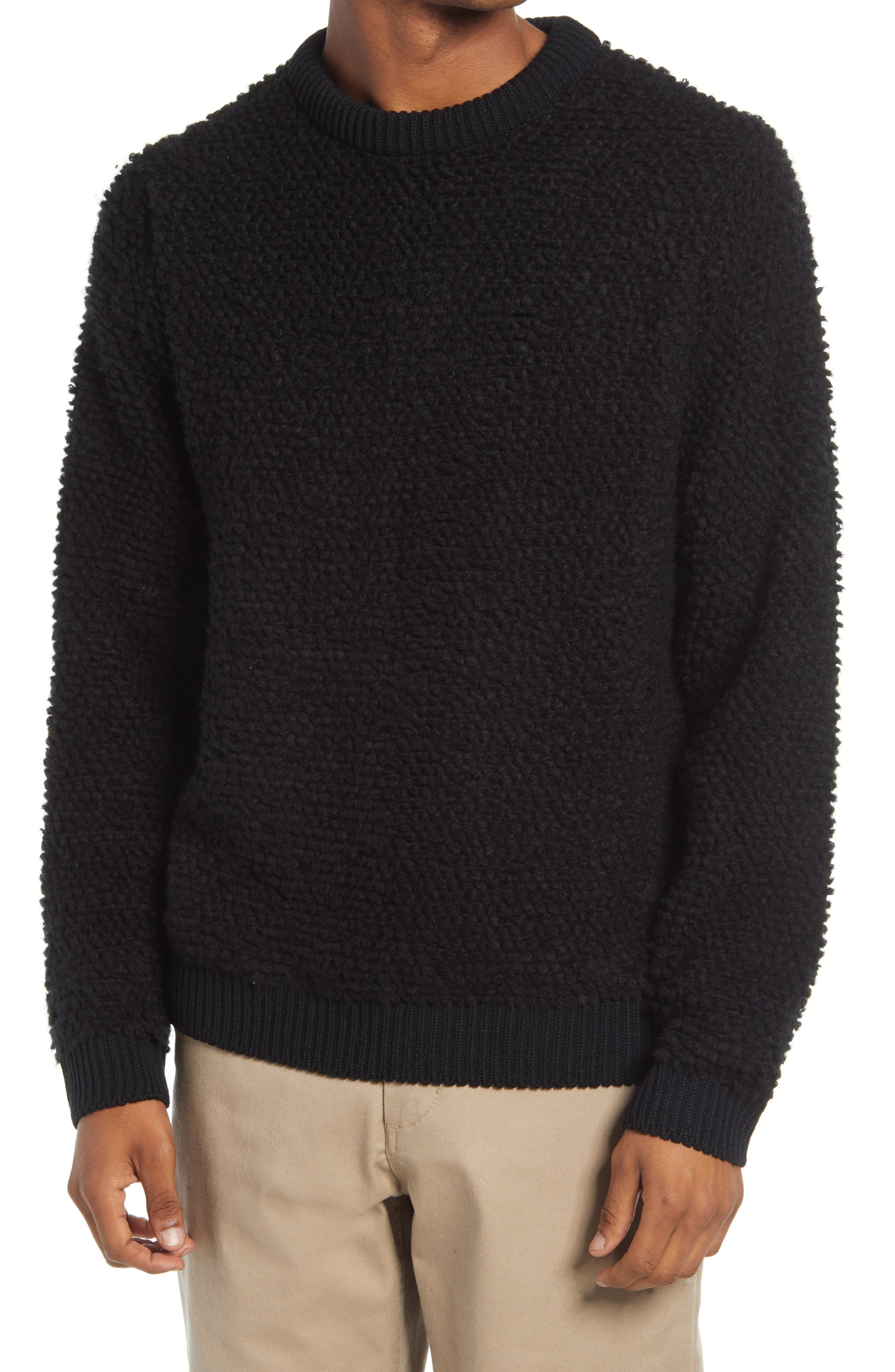 Boucle knit makes this classic crewneck sweater as soft as it is warm, with a fit that\\\'s great layered or on it\\\'s own. Style Name: Topman Men\\\'S Boucle Crewneck Sweater. Style Number: 6155799. Available in stores.