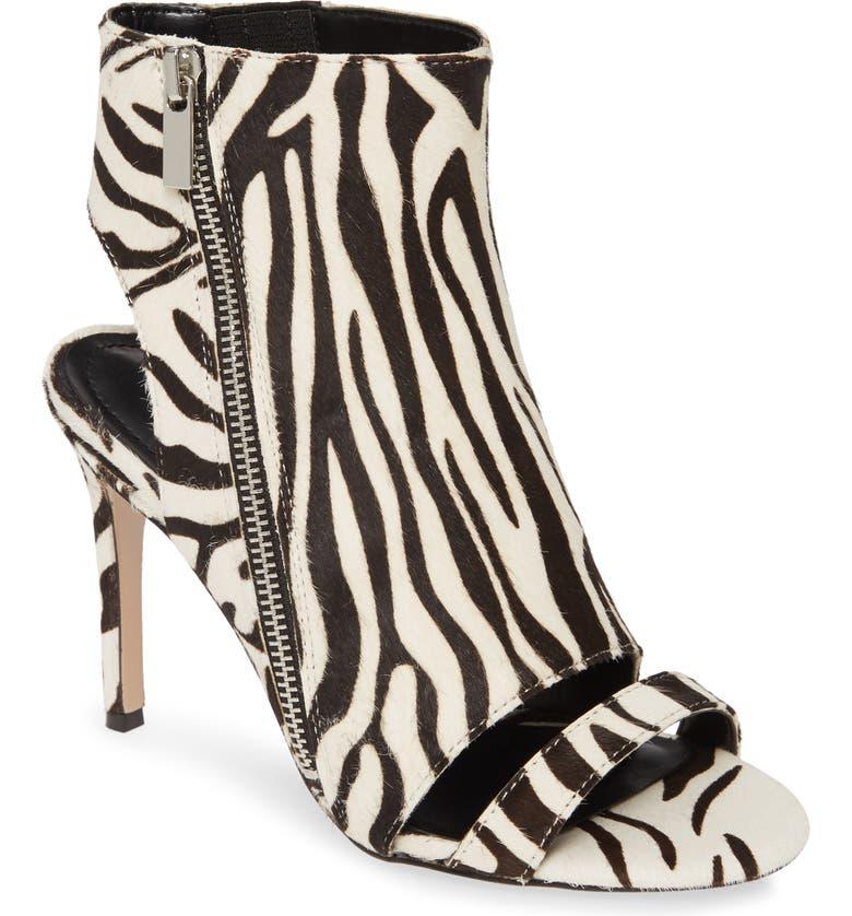 CHARLES DAVID Crosser Genuine Calf Hair Sandal, Main, color, ZEBRA PRINT