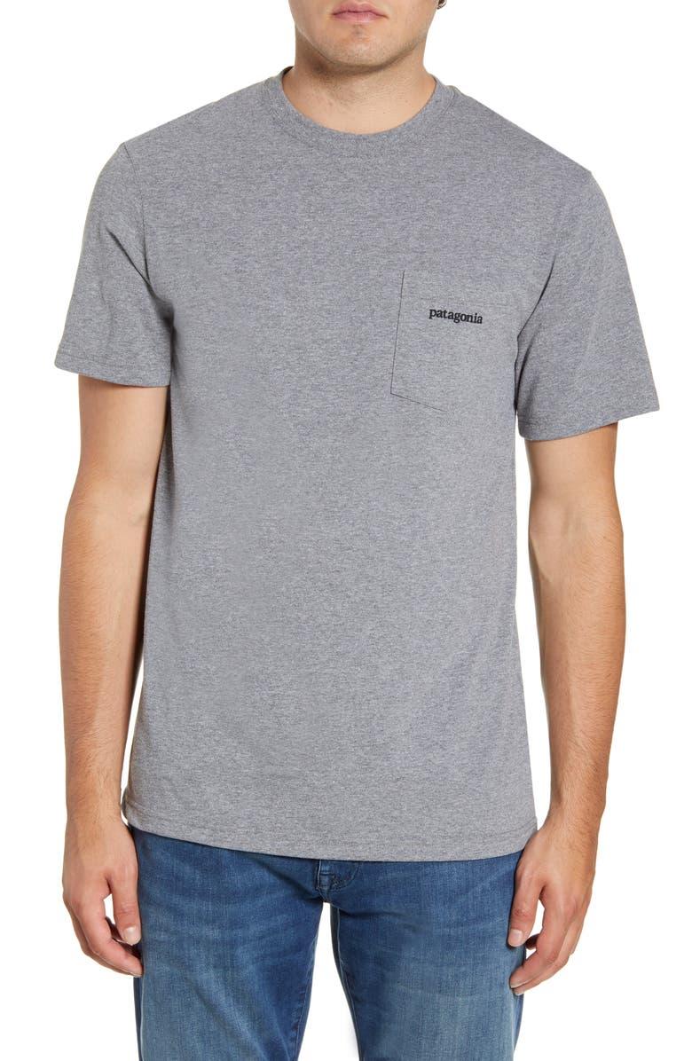 PATAGONIA Line Ridge Logo Responsibili-Tee Regular Fit T-Shirt, Main, color, GRAVEL HEATHER