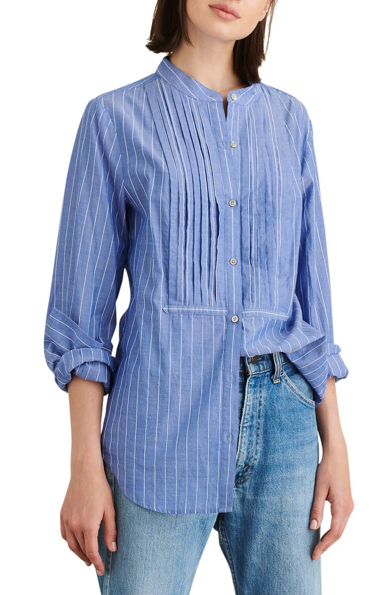 ALEX MILL Stripe Tux Shirt, Main, color, BLUE/ WHITE