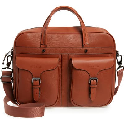 Ted Baker London Forsee Leather Document Bag - Brown