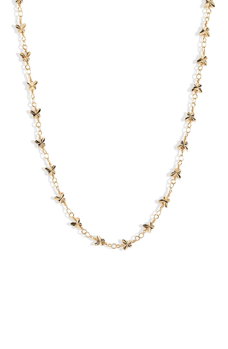 BRACHA Monarch Butterfly Choker Necklace, Main, color, GOLD
