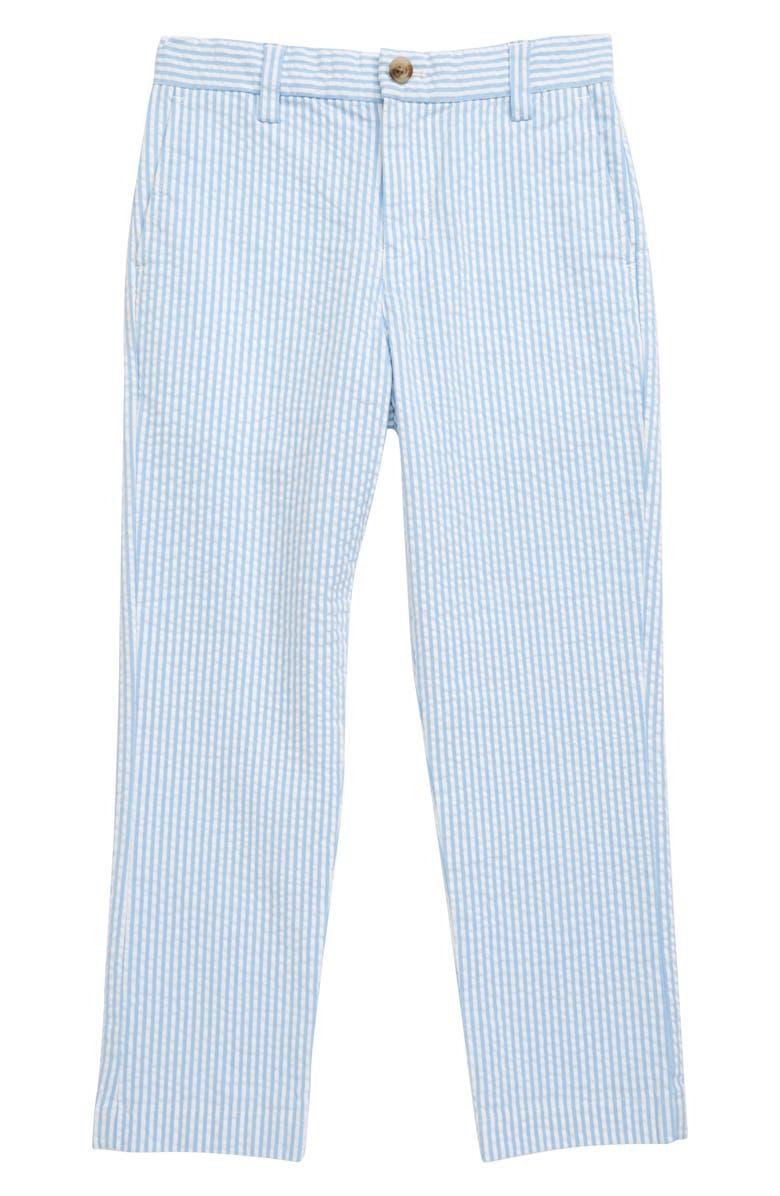 VINEYARD VINES Breaker Seersucker Pants, Main, color, OCEAN BREEZE