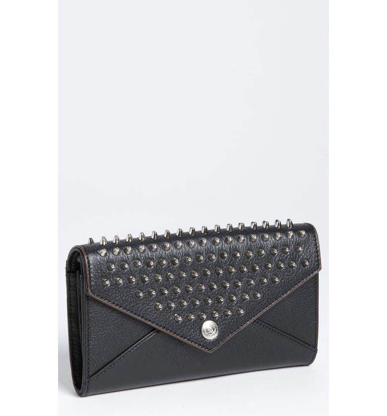 REBECCA MINKOFF Studded Wallet on a Chain, Main, color, 001