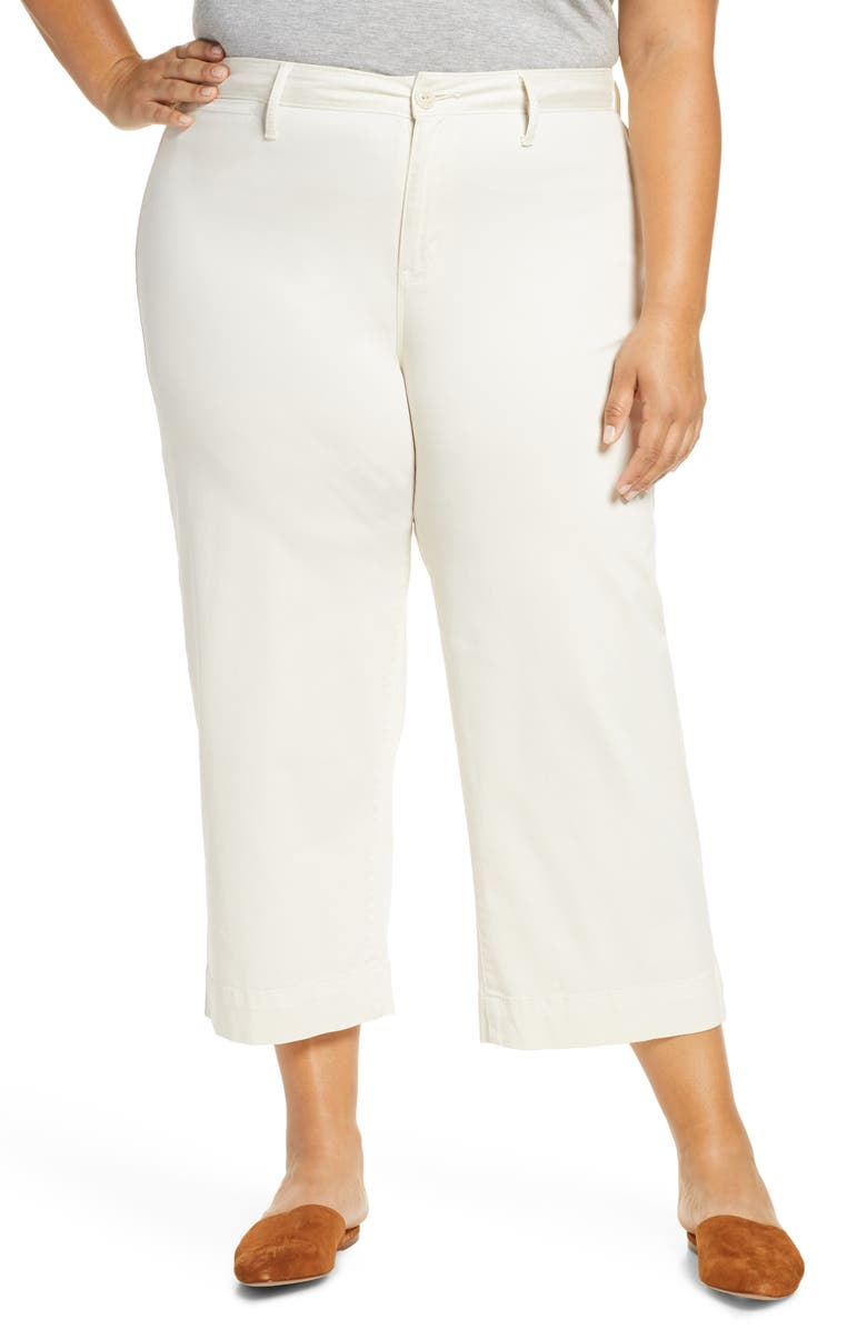 SANCTUARY Wide Leg Crop Pants, Main, color, SALT