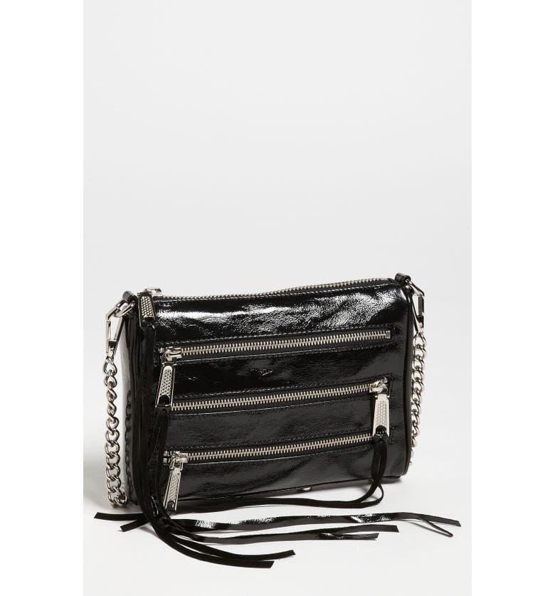 REBECCA MINKOFF '5 Zip - Mini' Crossbody Bag, Main, color, 001