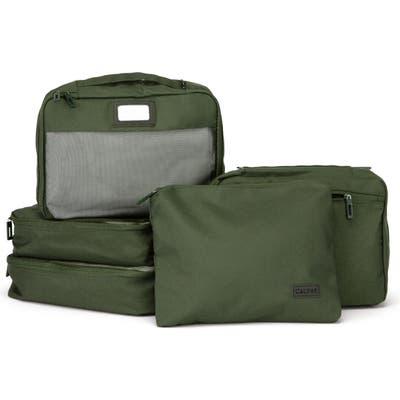 Calpak Set Of 5 Packing Cubes - Green