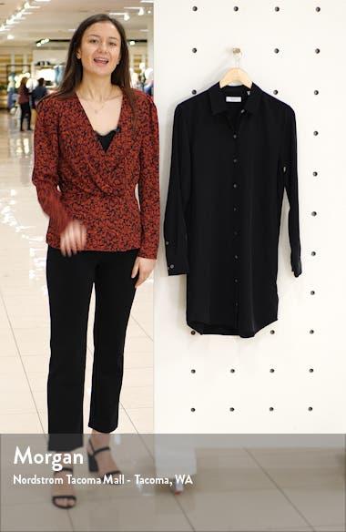Essential Long Sleeve Silk Shirtdress, sales video thumbnail