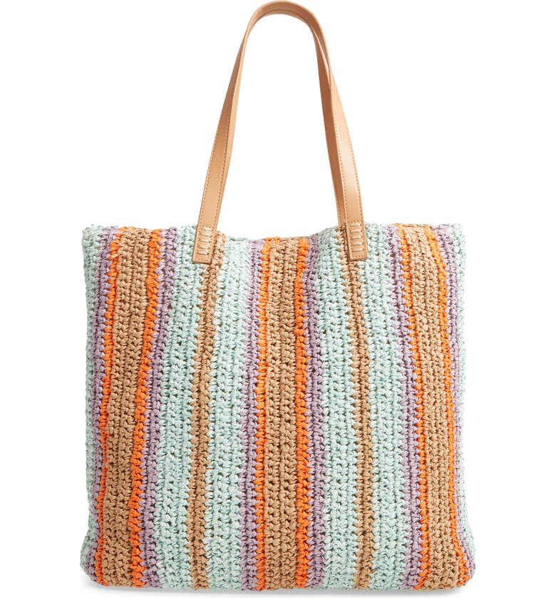 NORDSTROM Barnet Soft Woven Tote, Main, color, 330